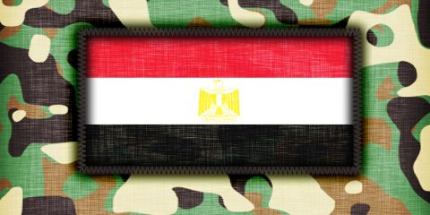 Amy camouflage uniform with flag on it Egypt
