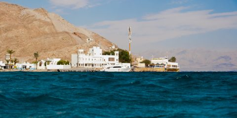Taba, Egypt - Beach near the Taba border control