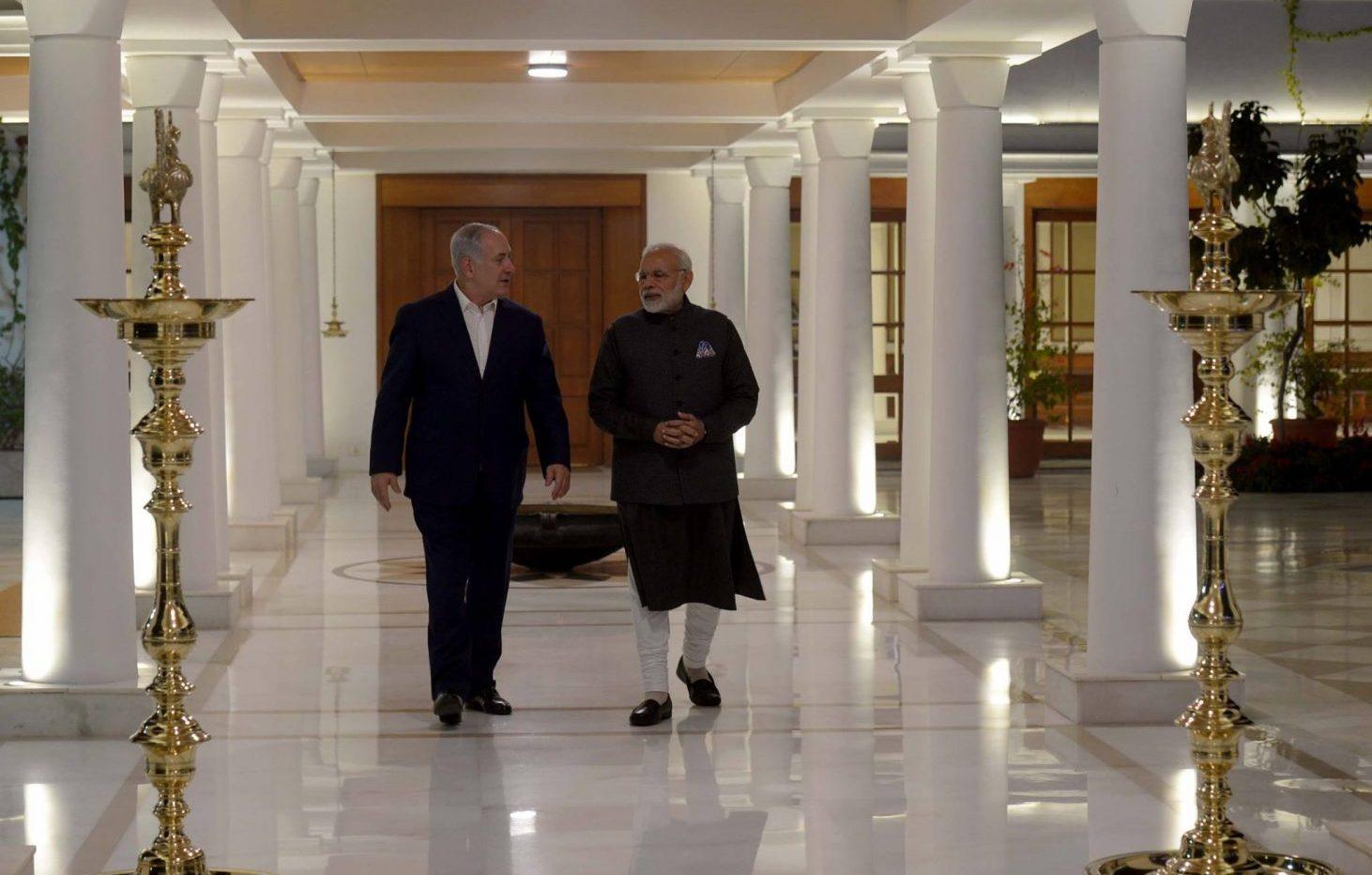 benjamin netanyahu with india PM moudi