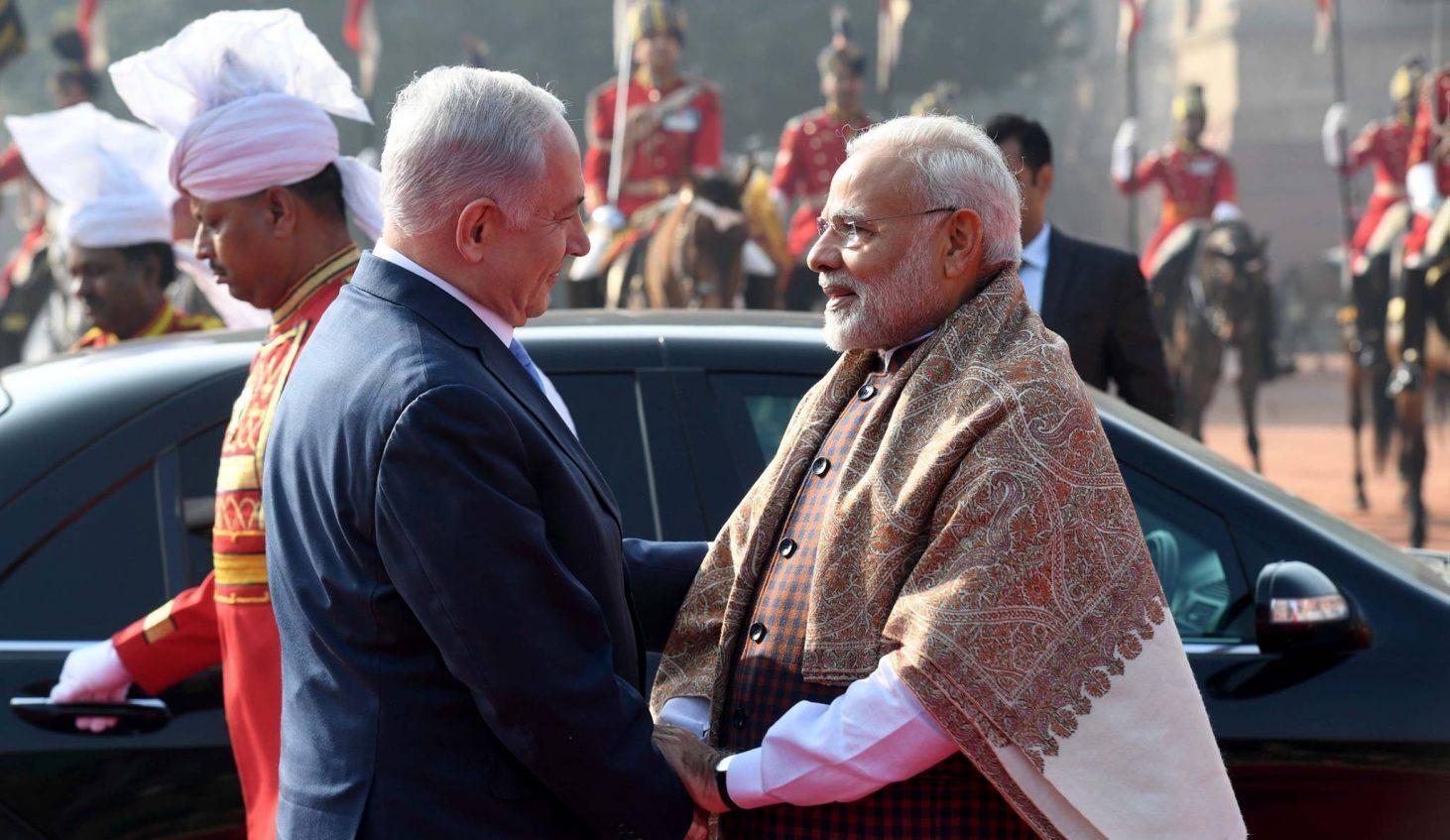 ראש הממשלה בנימין נתניהו בהודו