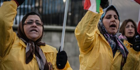 Iranian Women Protesting