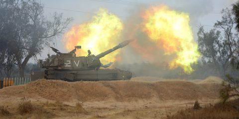 artillery corps in gaza