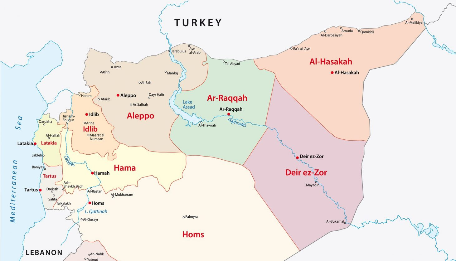The Syrian Arab Republic Administrative divisions Map