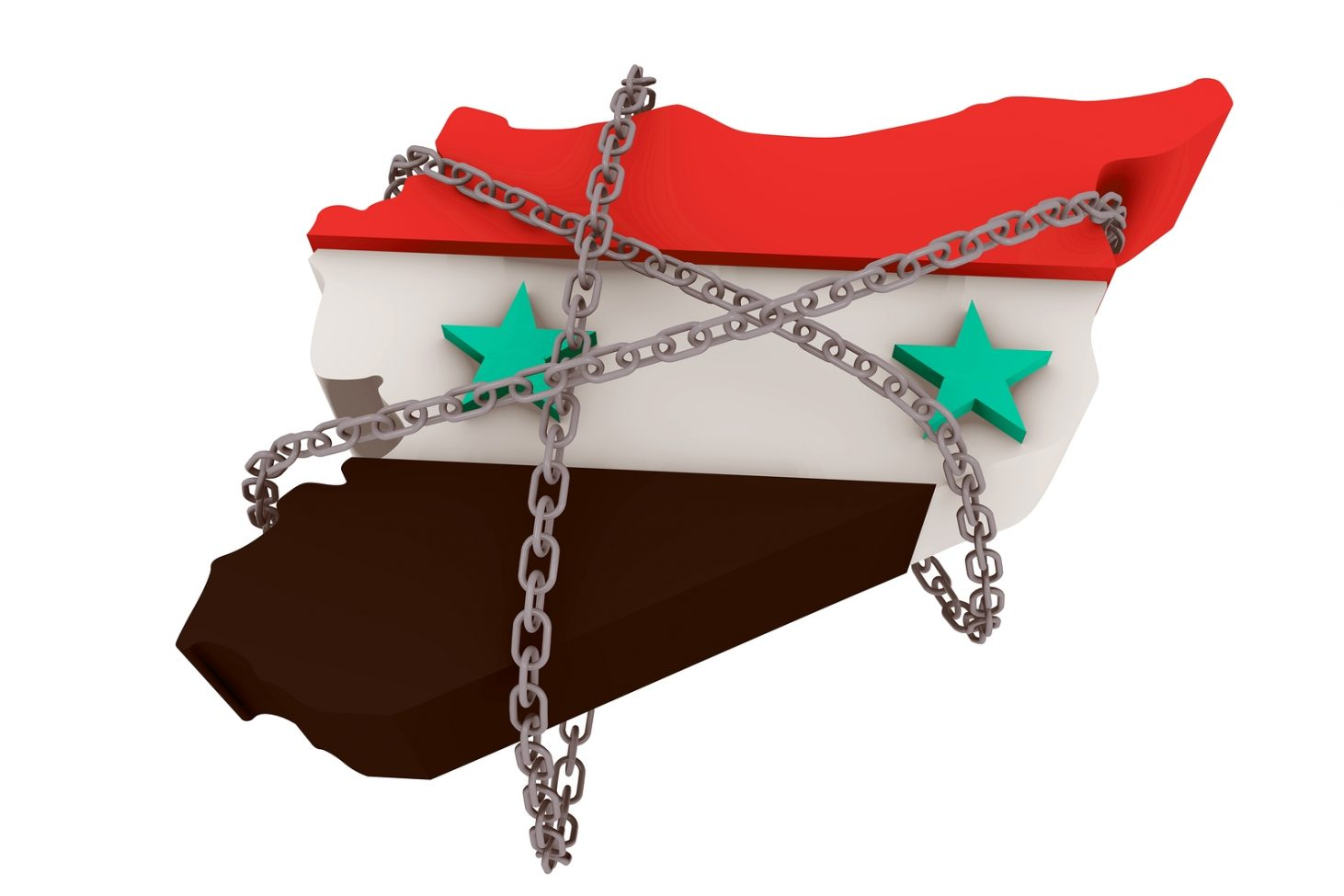 syrian map in chains