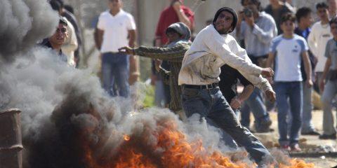 VIOLENT PALESTINIAN PROTEST