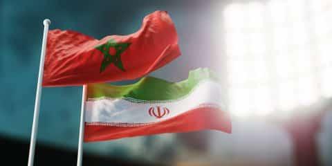 דגלי איראן ומרוקו