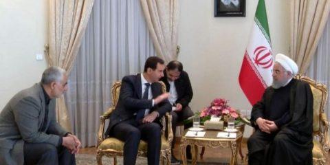 נשיא איראן ובשאר אסאד