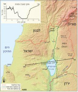 מפה מס' 1 – צפון ישראל