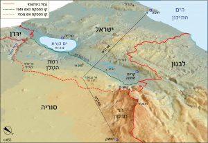 מפה מס' 3 – מבט מהחרמון דרומה, לדמשק ולחיפה