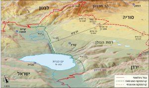 מפה מס' 2 – רמת הגולן