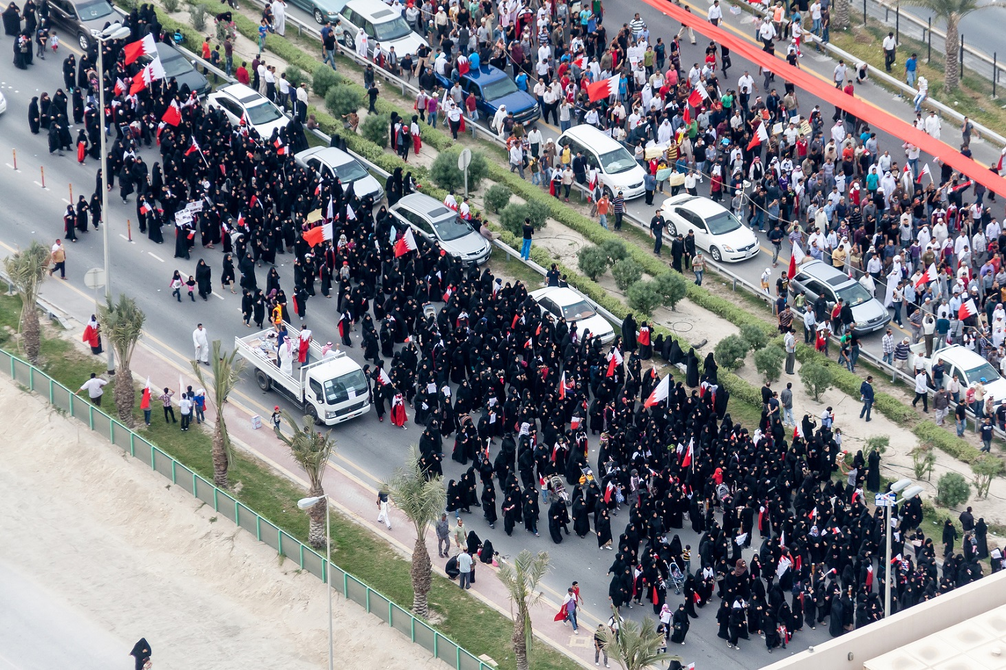 Bahrain protests and uprising in March 2011 during arab spring