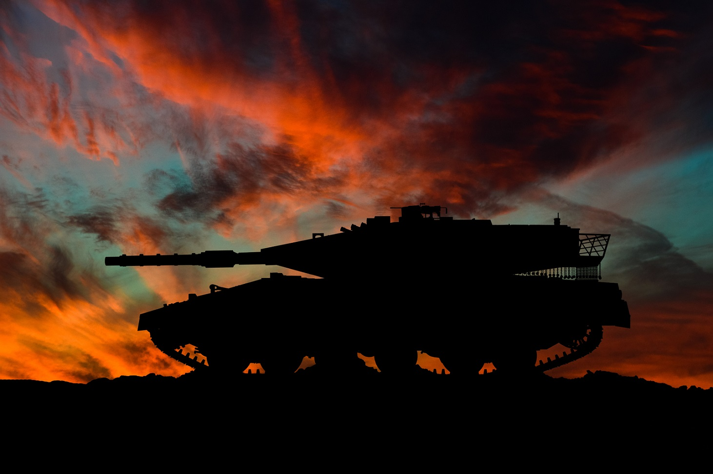Israeli main battle tank silhouette / 3d illustration