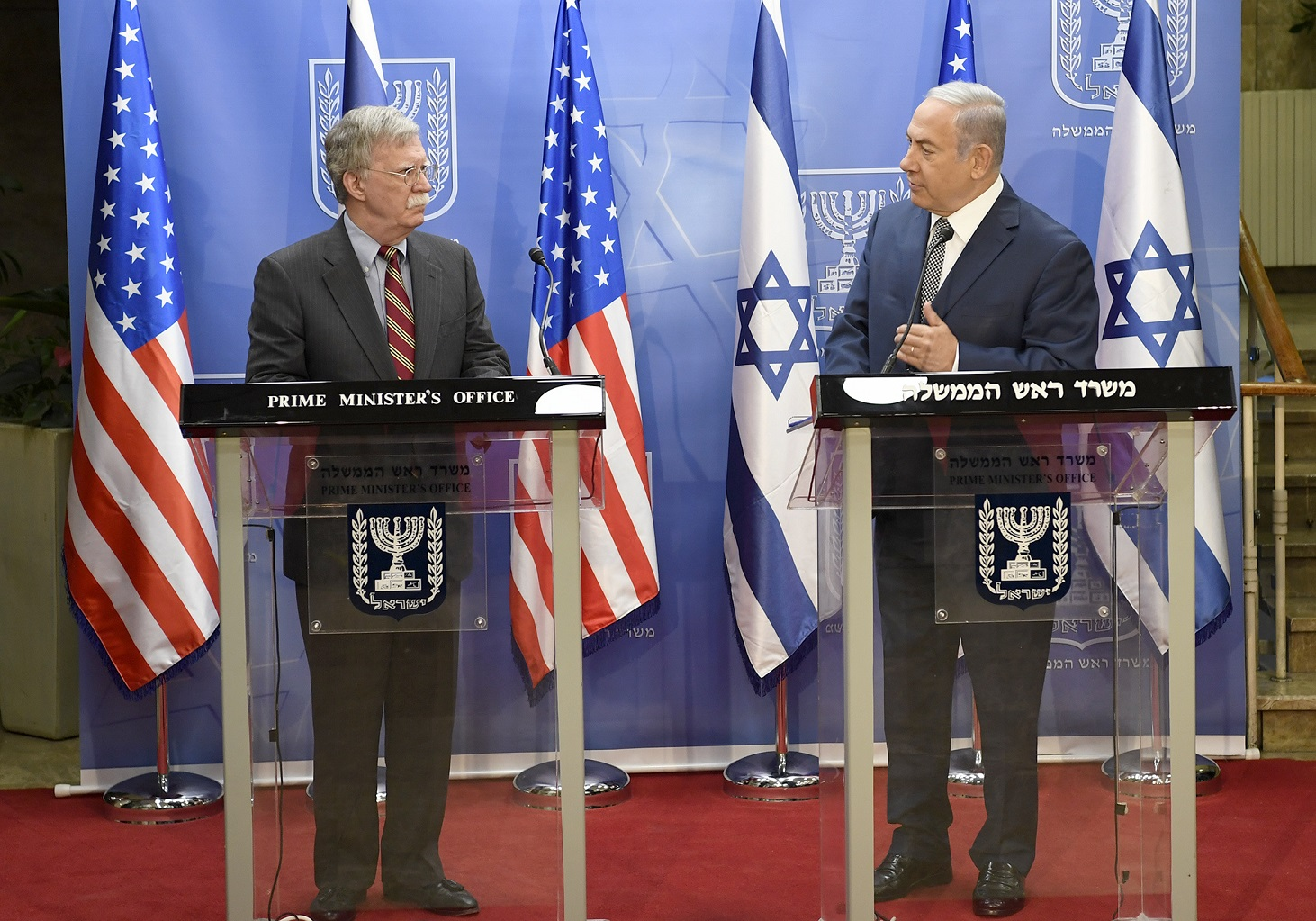Visit of the U.S. National Security Advisor Ambassador John Bolton Jerusalem, Israel Sunday, August 19 – Wednesday, August 22 Statements and Meeting with Prime Minister Benjamin Netanyahu