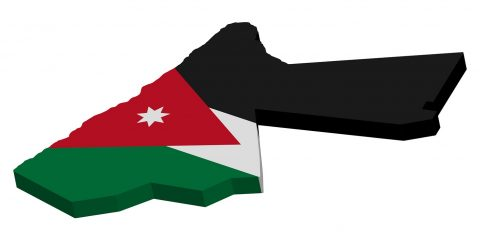 3D Jordan map flag Vector illustration Eps 10.