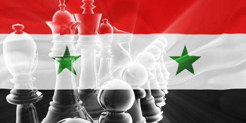 Flag Of Syria Wavy Business Strategy
