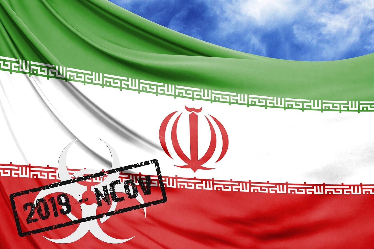Novel Coronavirus Disease Named 2019-ncov With Iran Flag Closeup