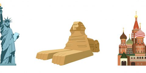 SPHINX KREMLIN STATUE OF LIBERTY