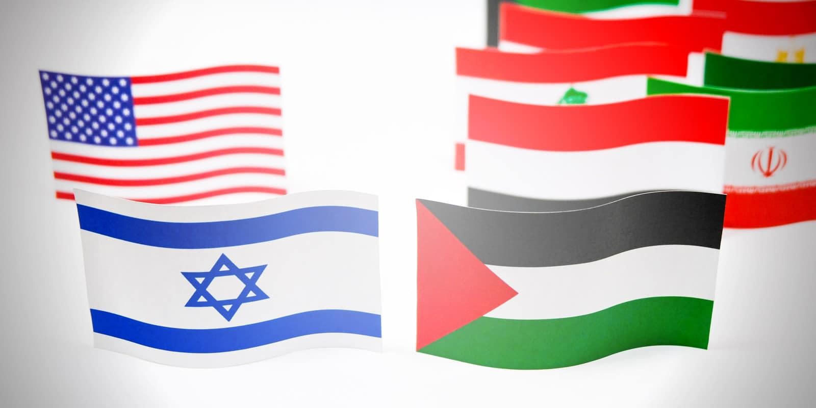 USA ISRAEL PA FLAGS