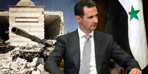 assad and syria illustration