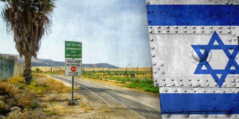 Jordan Valley Israel Flag Illustration