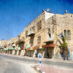 street in the jewish quarter near the center of Hebron