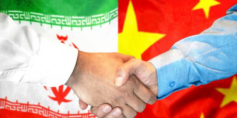 china iran handshake