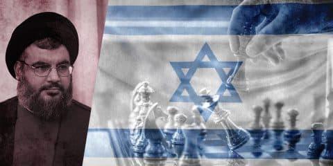 Israel flag strategy and Nasrallah