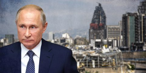 putin beirut illustration