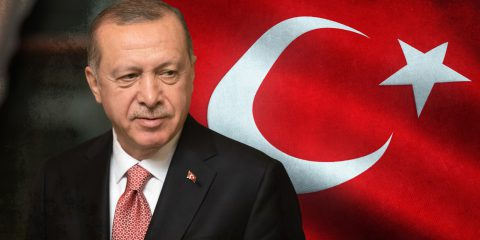 Erdogan and Turkey Flag
