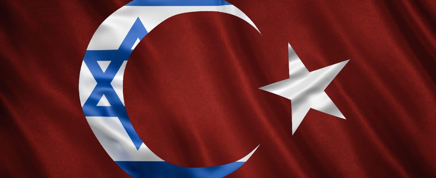 Turkey Israel Flags Illustration