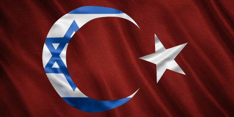 Turkey Israel Flags Illustration