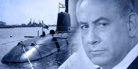 Benjamin Netanyahu and Submarine illustration