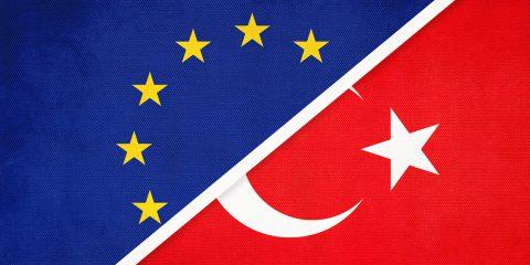 EU-TURKEY FLAGS ILLUSTRATION