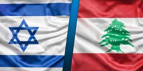 Israel Lebanon flags