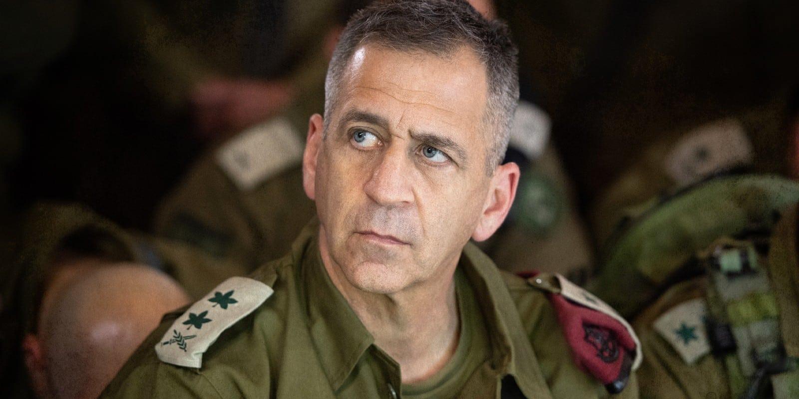 Aviv Kochavi Chief of General Staff of the IDF, in uniform