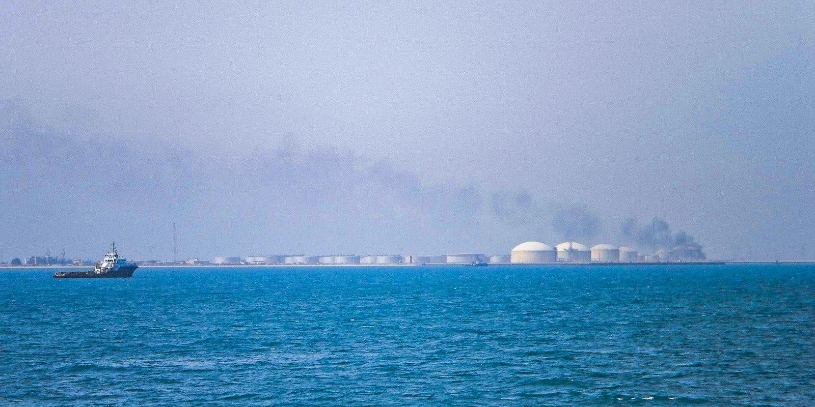 Oil tanks in Ras Tanura