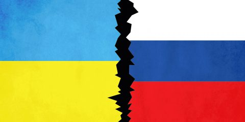 Save Download Preview State flags of the countries of Ukraine and Russia