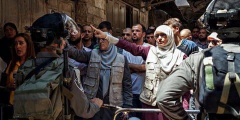 Palestinians protest in Old City of Jerusalem