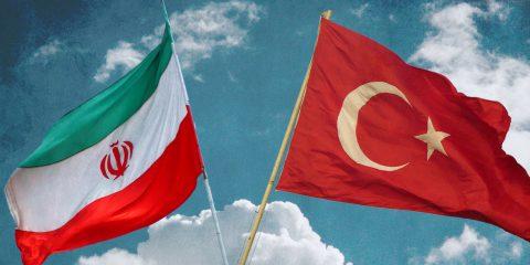Turkey and Iran Flag