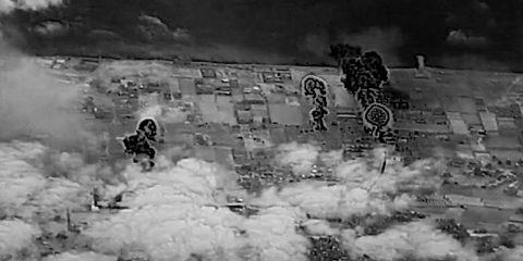 עזה בזמן מבצע, צילום מהשמיים