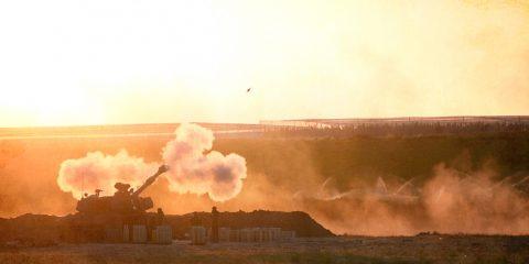 תותחן של צה״ל יורה, מבצע שומר החומות