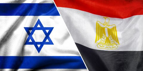 israel flag and egypt flag