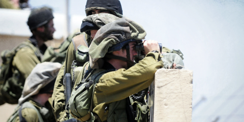 """IDF soldiers on the Israel-Syria border the day after the riots """"Asset Day"""