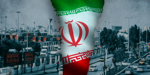 syria in the middle iran flag