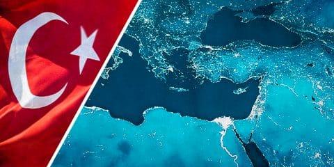 Mediterranean AND TURKEY FLAG