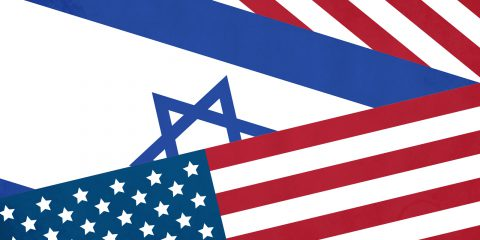 USA Israel flag illustration